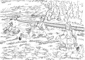 Бойцы «ВерВольф» подрывают полотно железной дороги