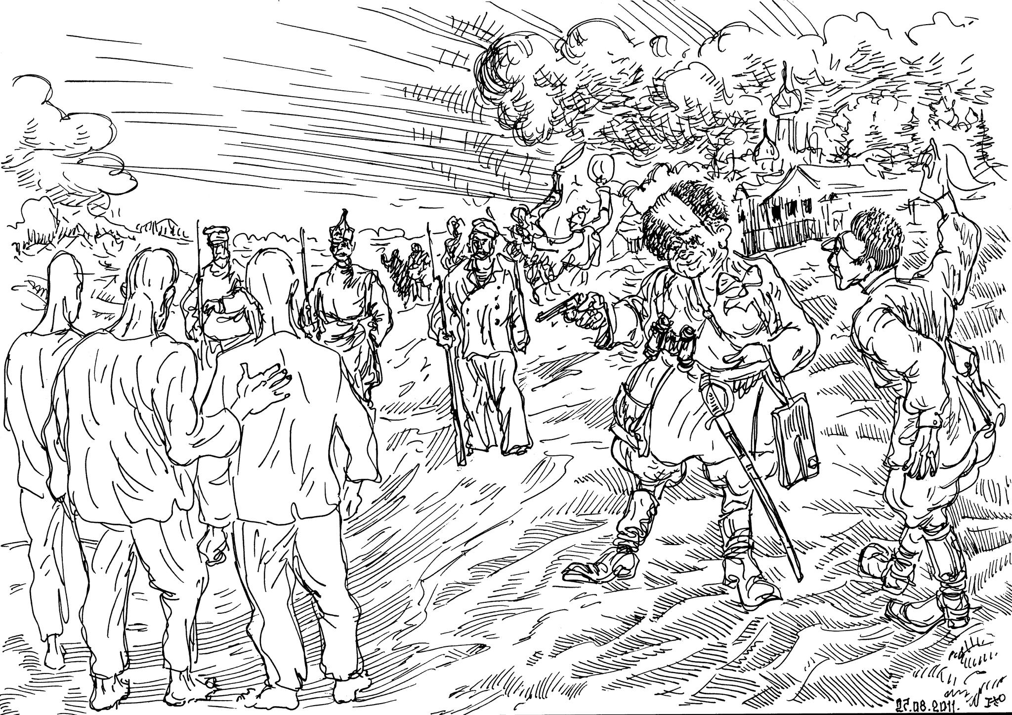 Малороссы зачищают казачьи станицы, уничтожают казаков