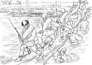 Обеспечение инженерными войсками оперативной водной переправы