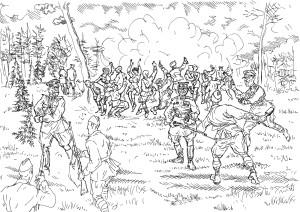 Рядовые бойцы иногда прерывали оргии и веселье августейших на самом интересном месте