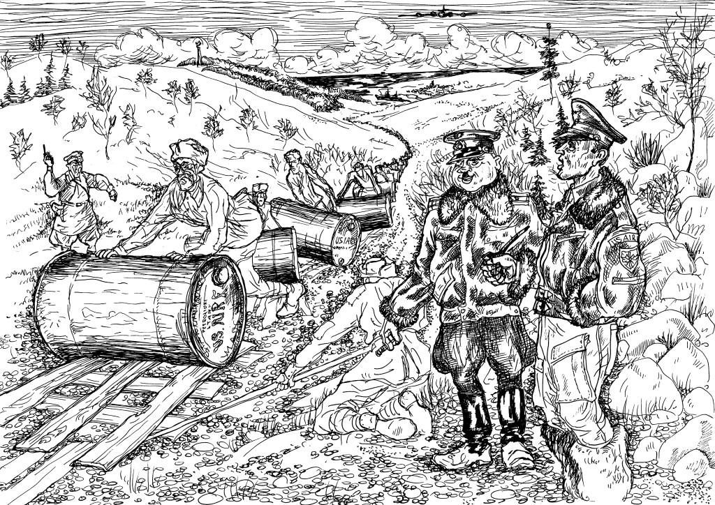 Транспортировка ленд-лизовских грузов по-советски…