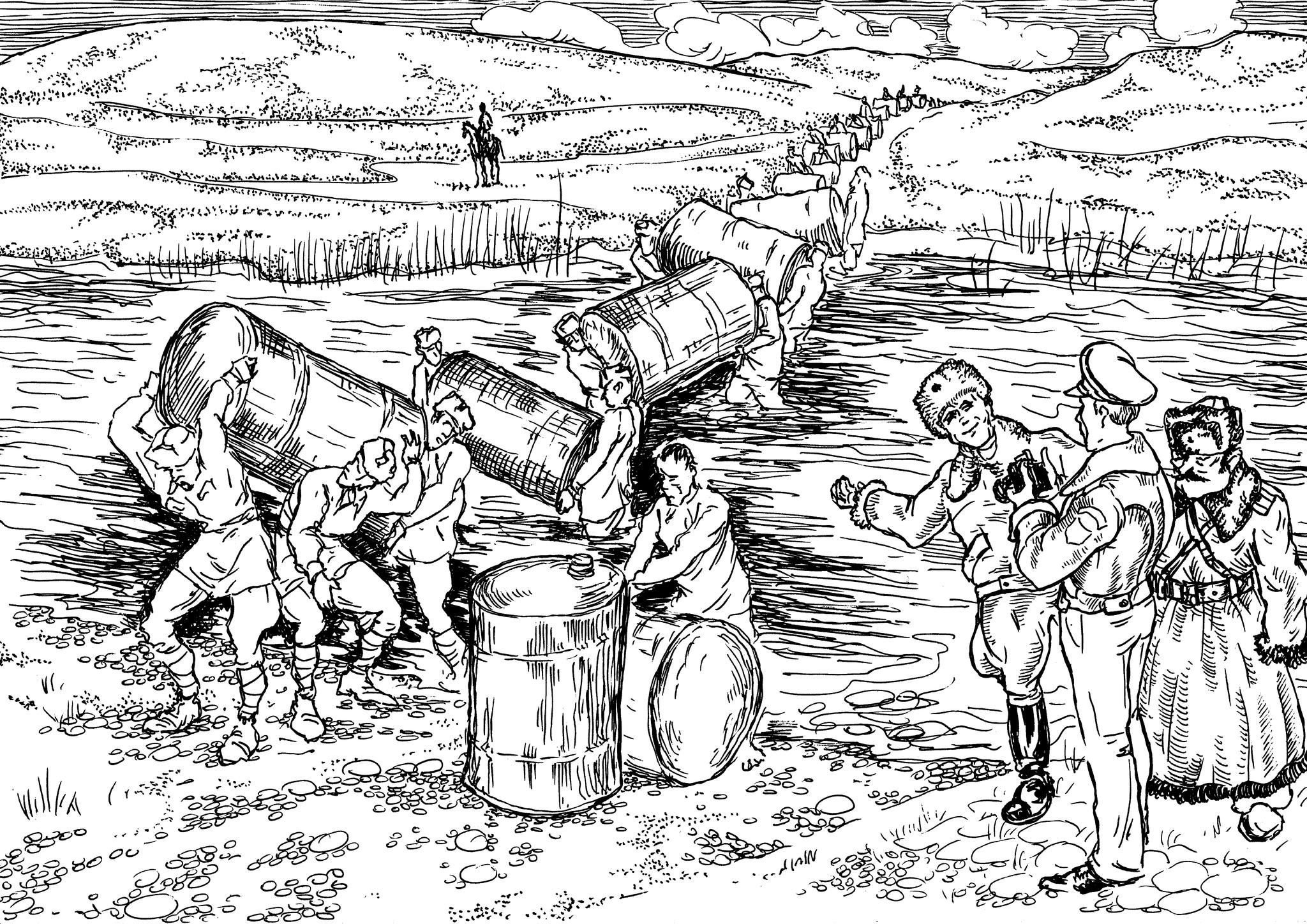 Разгрузка грузов ленд-лиза из Великобритании и США в условиях Русского Севера