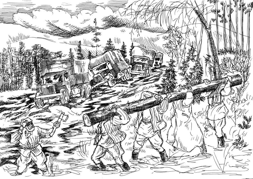 «…Вместе с холодами и лесами — впереди Сусанин…, просто нам завещана от Бога — русская дорога…» (И.Растеряев)