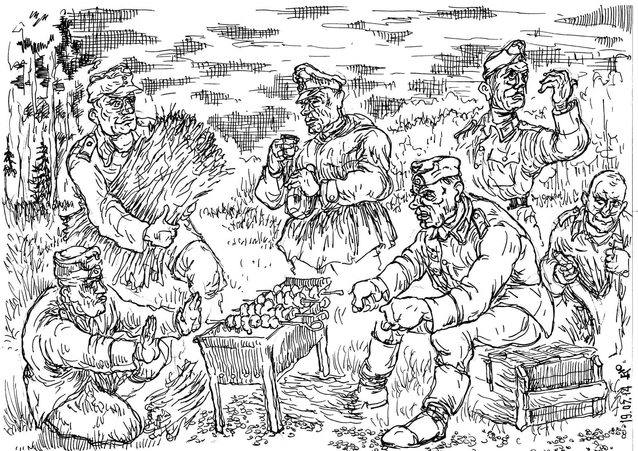 Вермахт, пришедший на территорию Кавказа, охотно перенимал обычаи коренных горных племён