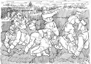 На позициях дивизии СС «Галичина»