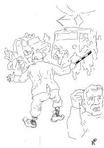 Водитель трамвая, немедленно сверните к обочине!