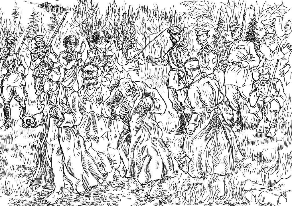 Каппелевцы отпускают на свободу пленных красноармейцев, мужиков, насильно мобилизованных в ряды Красной армии