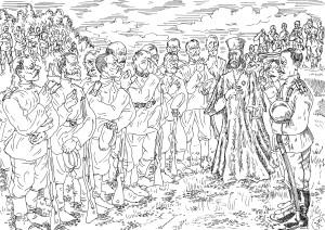 Первая Мировая война. Полковой священник на позициях 37-го Екатеринбургского Пехотного Полка