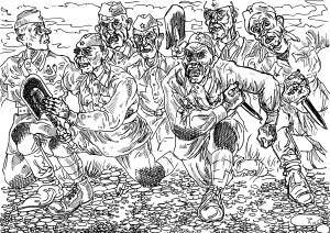 Красноармейцы-окруженцы, готовые к прорыву из окружения