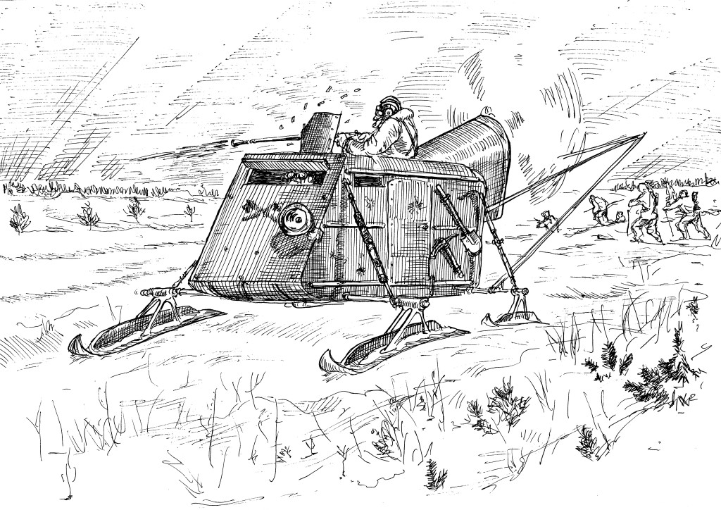 Аэросани НКЛ-26 — лёгкие танки и тягачи лыжников
