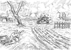 Сапёр-гранатомётчик с РПГ «Панцерфауст» ЗОМ