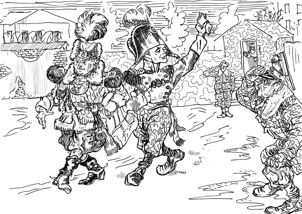 Дембеля покидают территорию части и в форме «от Юдашкина» убывают в родные края