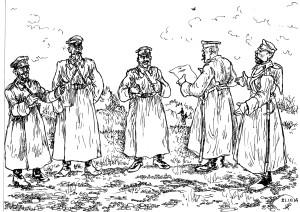 Из приказа генерала Брусилова заградотрядовцам: «…при нужде не останавливаться перед поголовным расстрелом…»