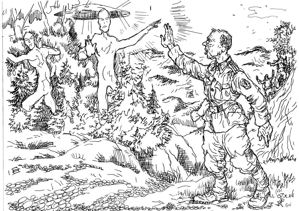 Горные стрелки Вермахта и экипажи НЛО