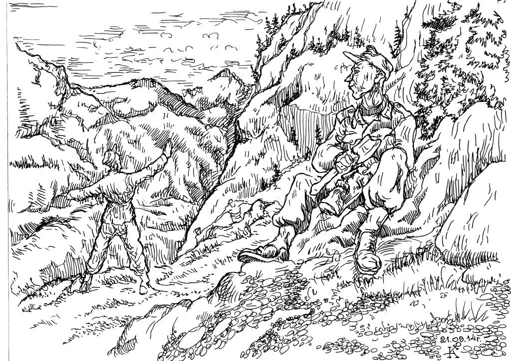 Следы горных стрелков Вермахта