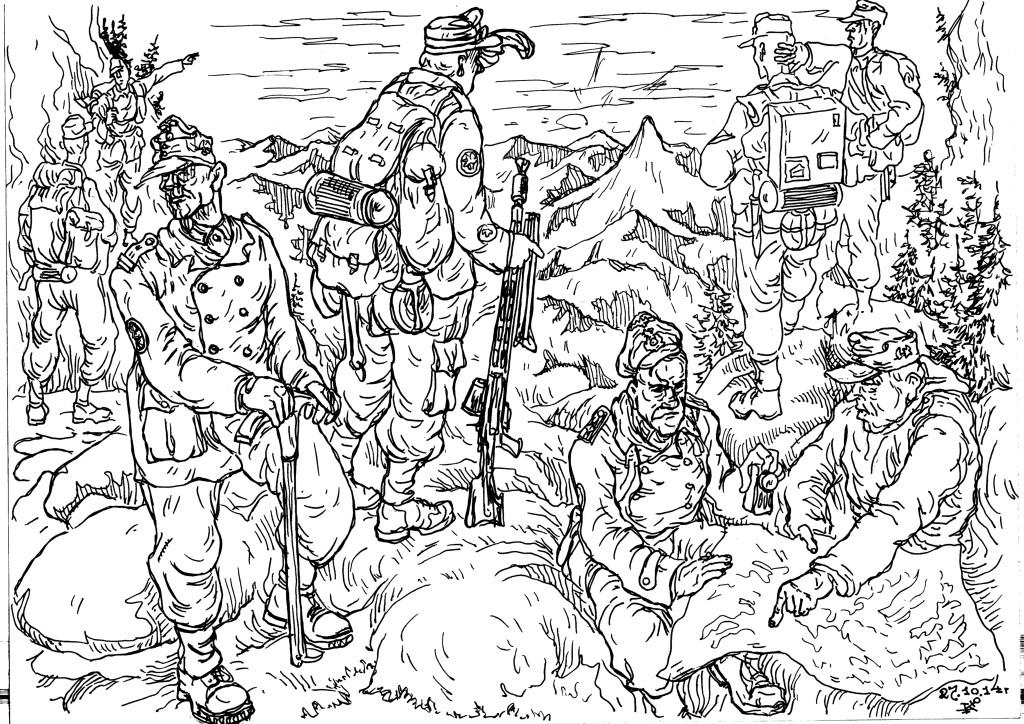 Использование горными стрелками довоенного опыта