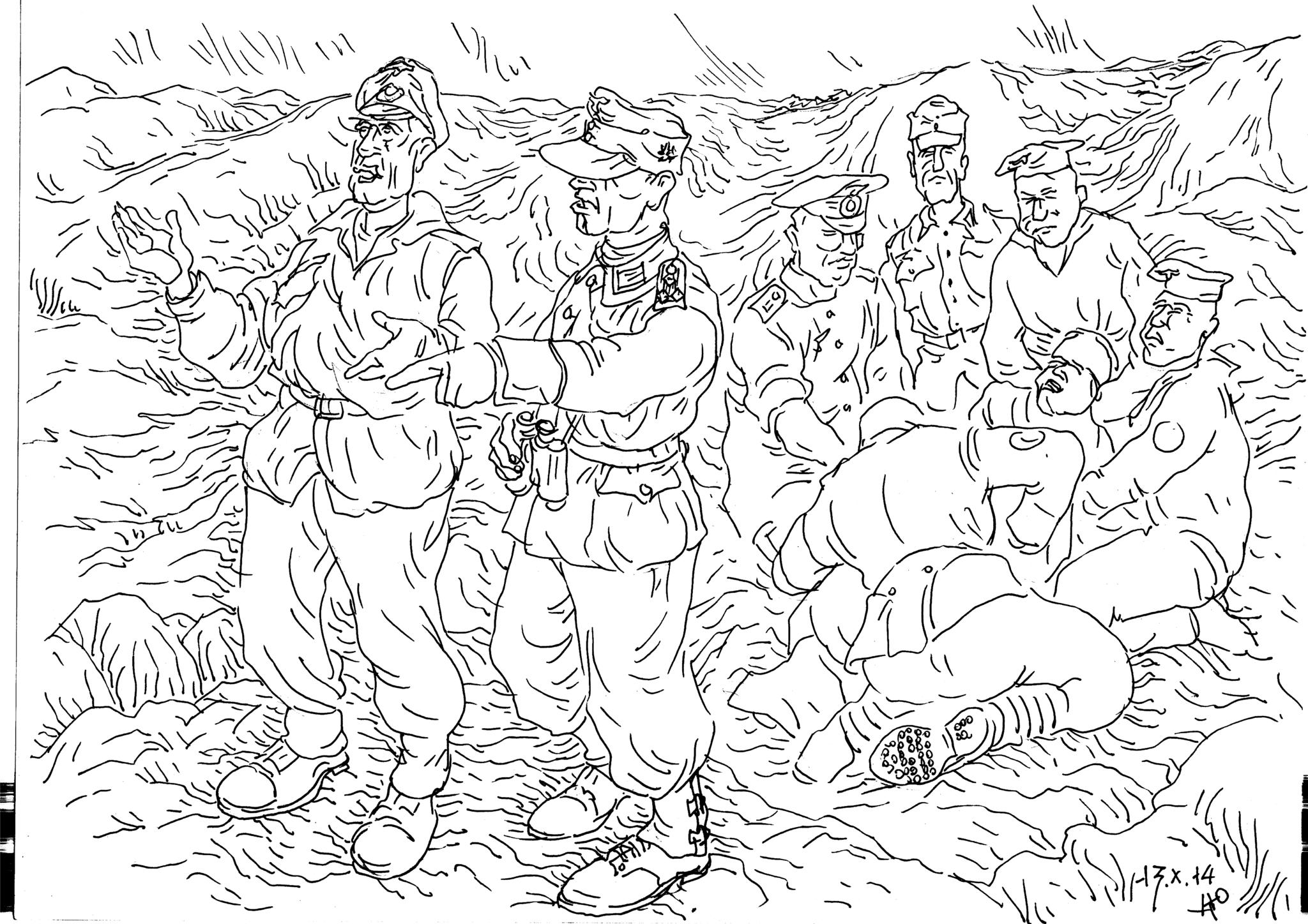 Помощь горных стрелков в битве за Нарвик